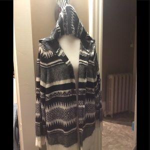 Beautiful cozy and warm hoodie cardigan
